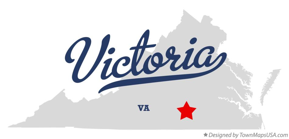 Map of Victoria Virginia VA