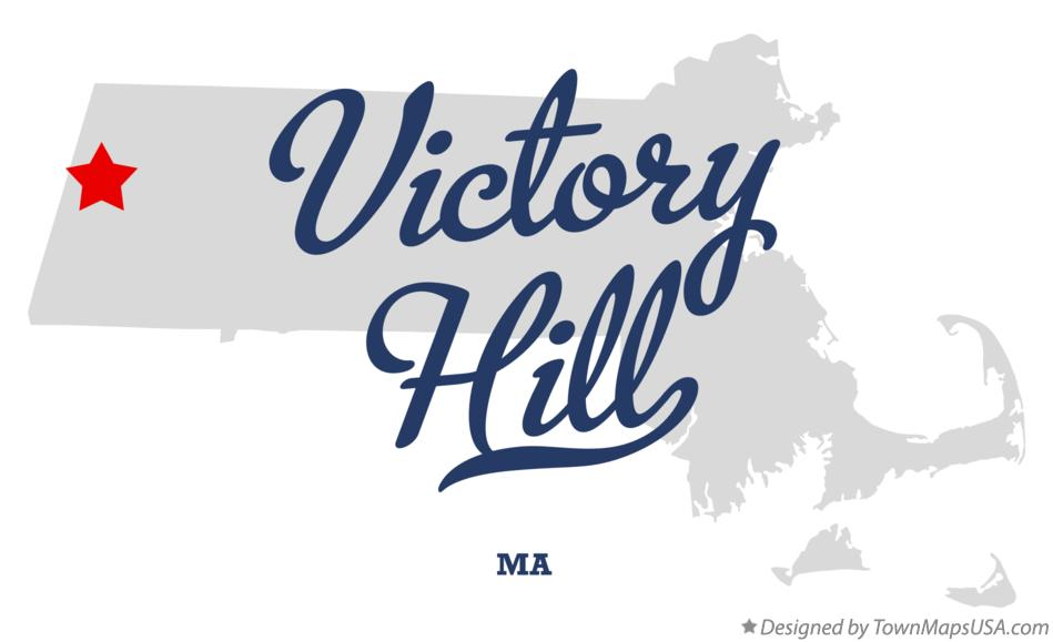 Map of Victory Hill Massachusetts MA
