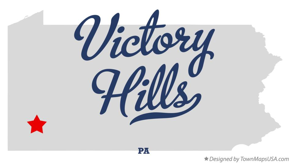 Map of Victory Hills Pennsylvania PA