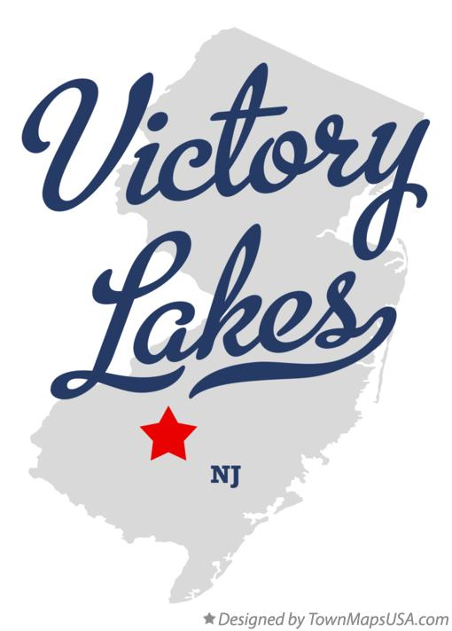 Map of Victory Lakes New Jersey NJ
