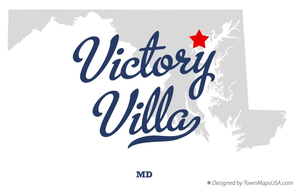Map of Victory Villa Maryland MD