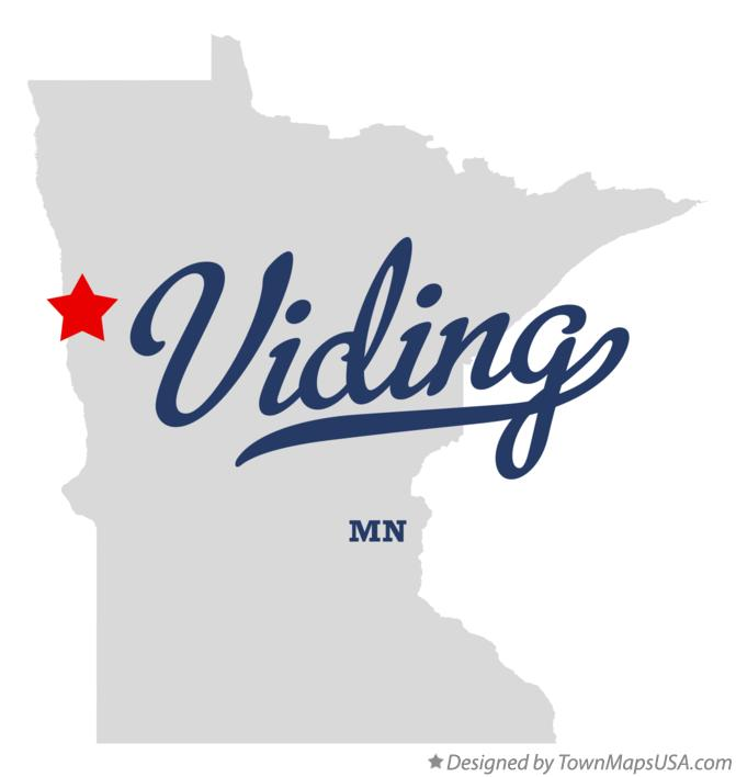Map of Viding Minnesota MN