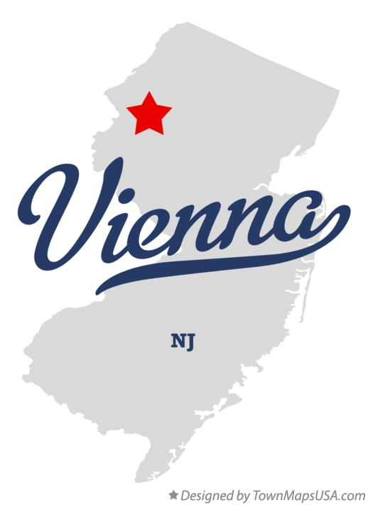 Map of Vienna New Jersey NJ