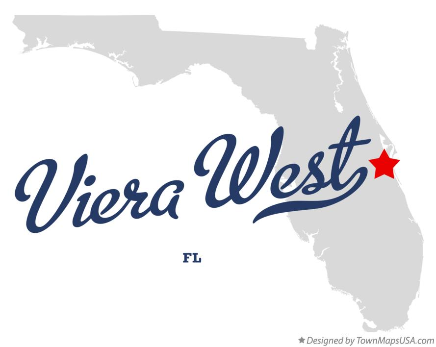 Map of Viera West Florida FL