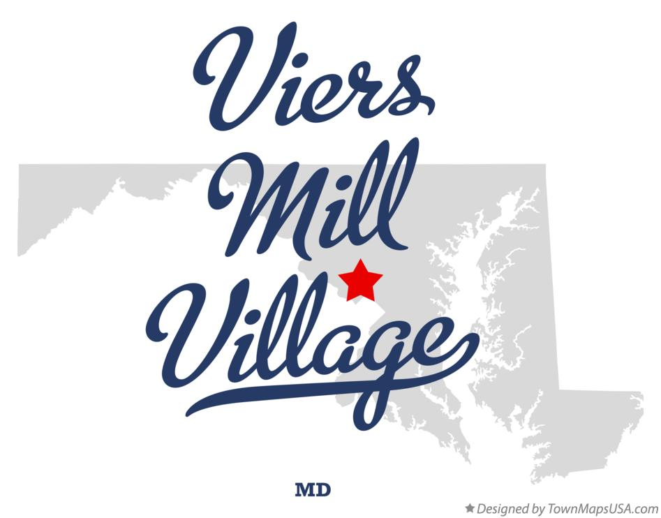 Map of Viers Mill Village Maryland MD