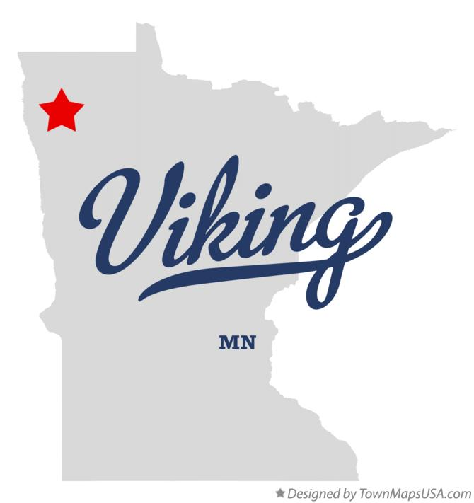 Map of Viking Minnesota MN