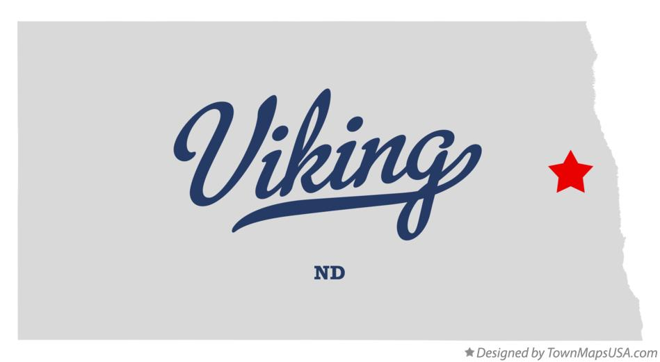 Map of Viking North Dakota ND