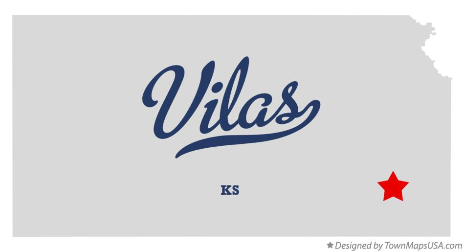 Map of Vilas Kansas KS