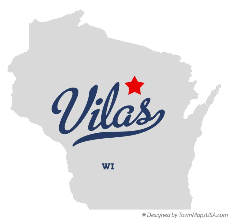 Map of Vilas Wisconsin WI