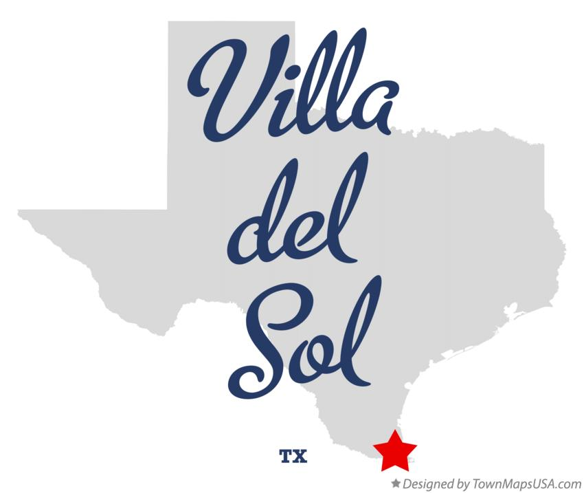 Map of Villa del Sol Texas TX