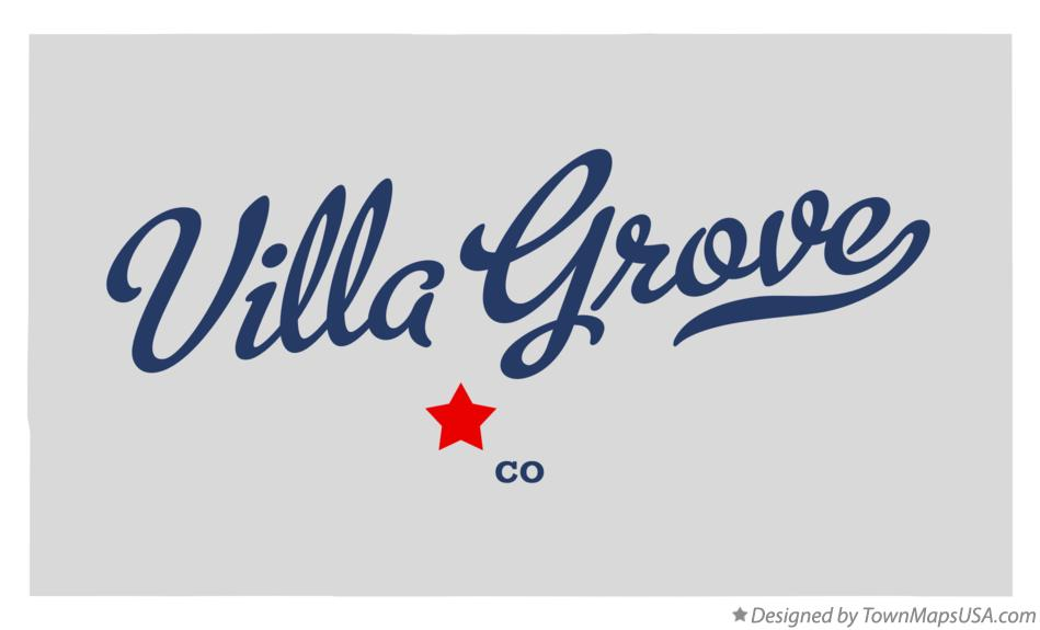 Map of Villa Grove Colorado CO