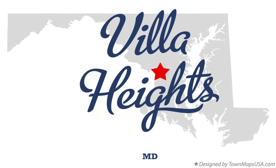 Map of Villa Heights Maryland MD
