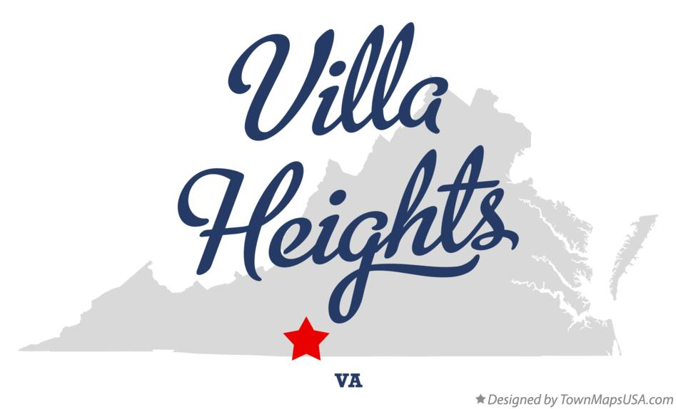 Map of Villa Heights Virginia VA