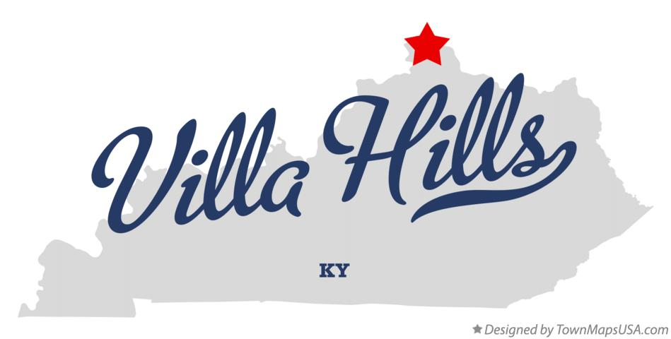 Map of Villa Hills Kentucky KY