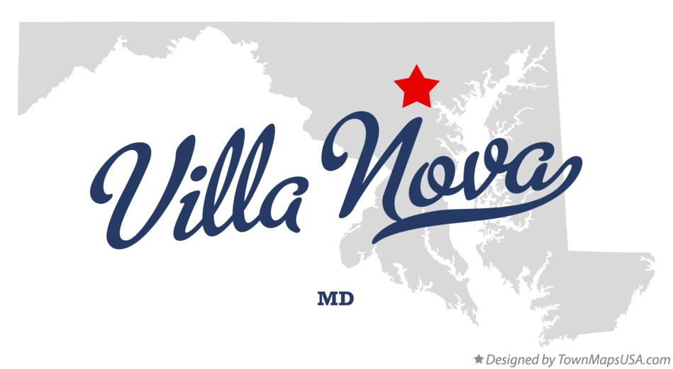 Map of Villa Nova Maryland MD