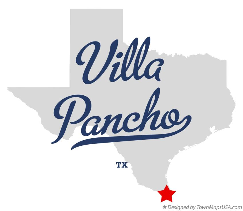 Map of Villa Pancho Texas TX