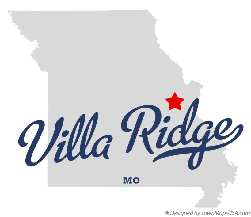 Map of Villa Ridge Missouri MO