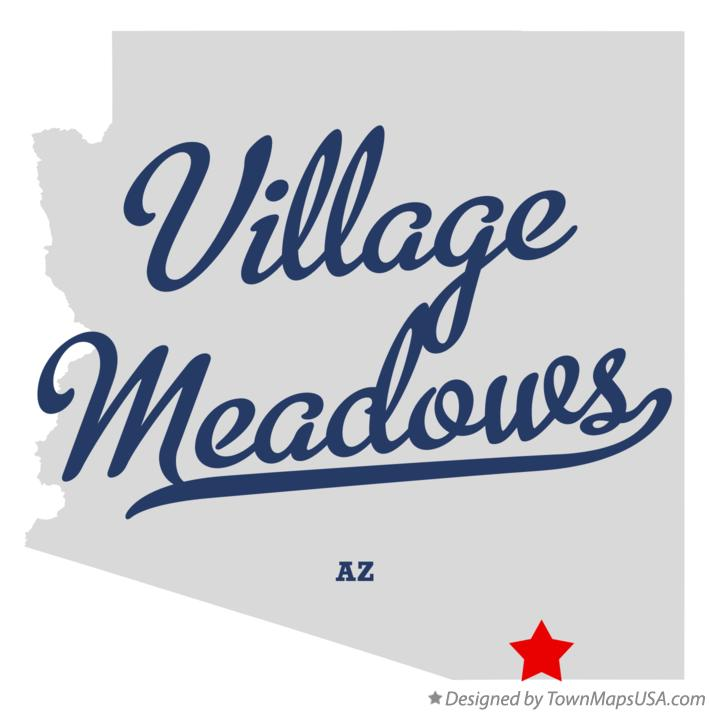 Map of Village Meadows Arizona AZ