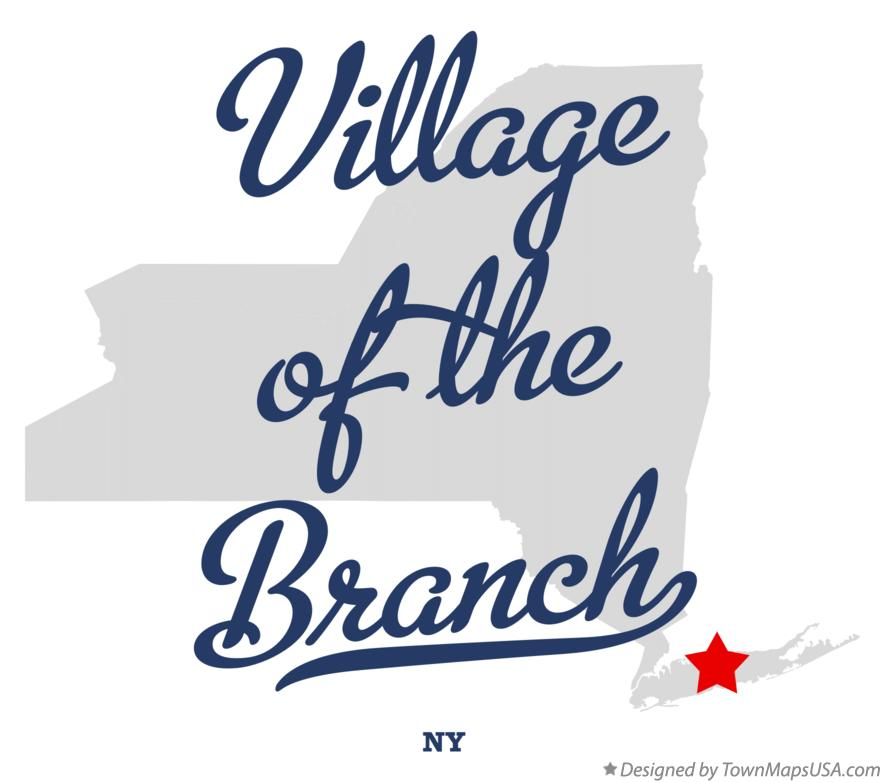 Map of Village of the Branch New York NY