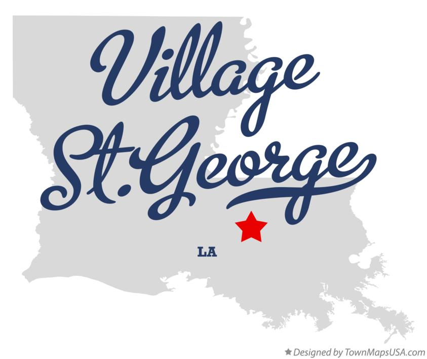 Map of Village St.George Louisiana LA