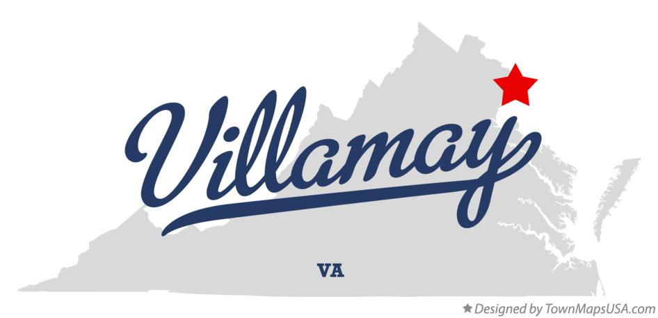 Map of Villamay Virginia VA