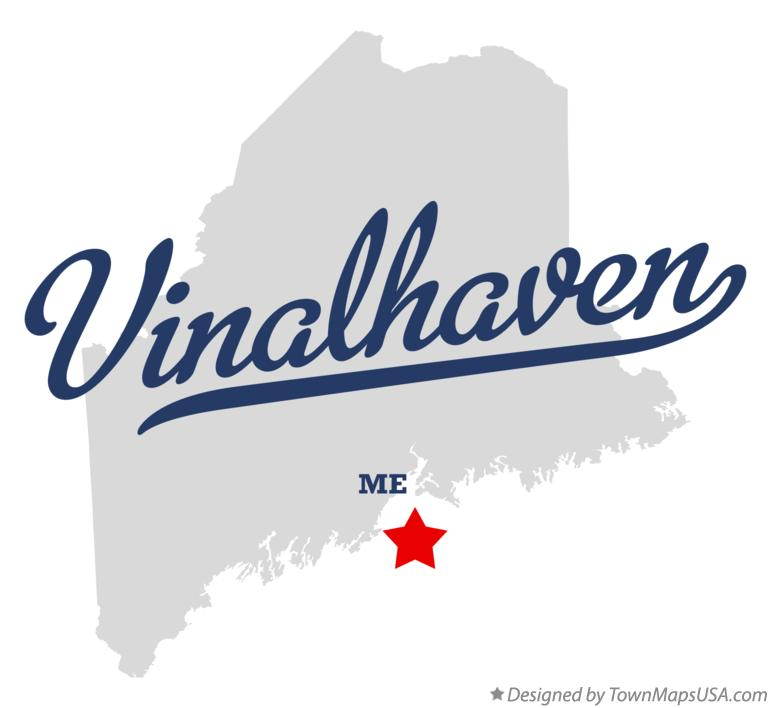 Map of Vinalhaven Maine ME