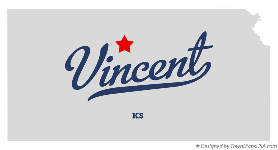 Map of Vincent Kansas KS