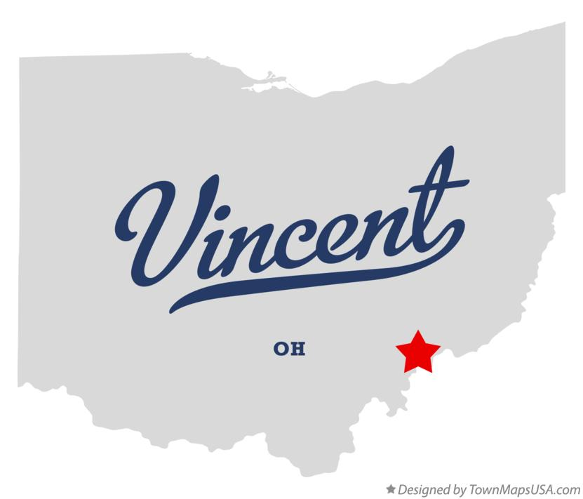 Map of Vincent Ohio OH