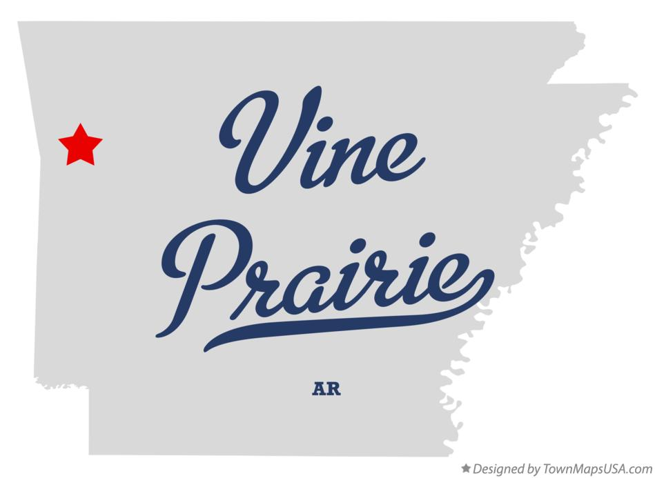 Map of Vine Prairie Arkansas AR