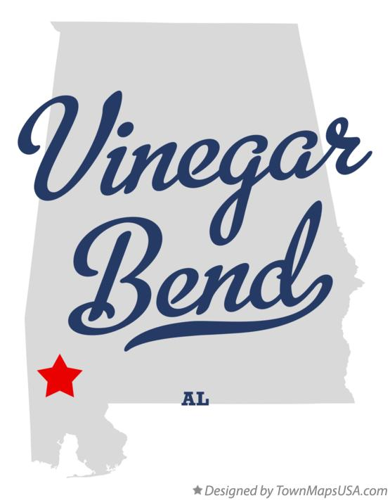 Map of Vinegar Bend Alabama AL