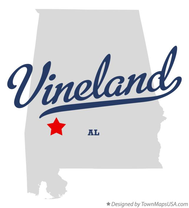 Map of Vineland Alabama AL