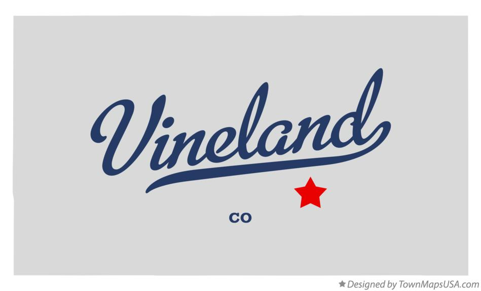 Map of Vineland Colorado CO