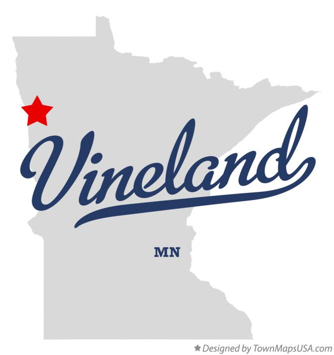 Map of Vineland Minnesota MN
