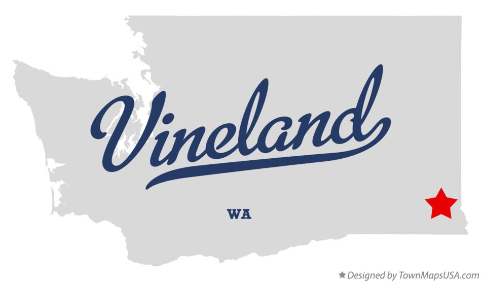 Map of Vineland Washington WA