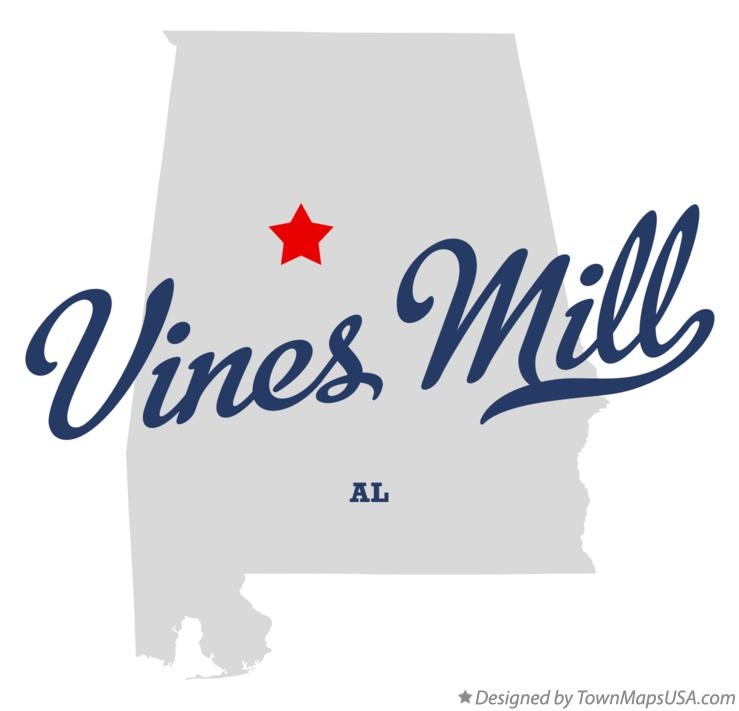 Map of Vines Mill Alabama AL