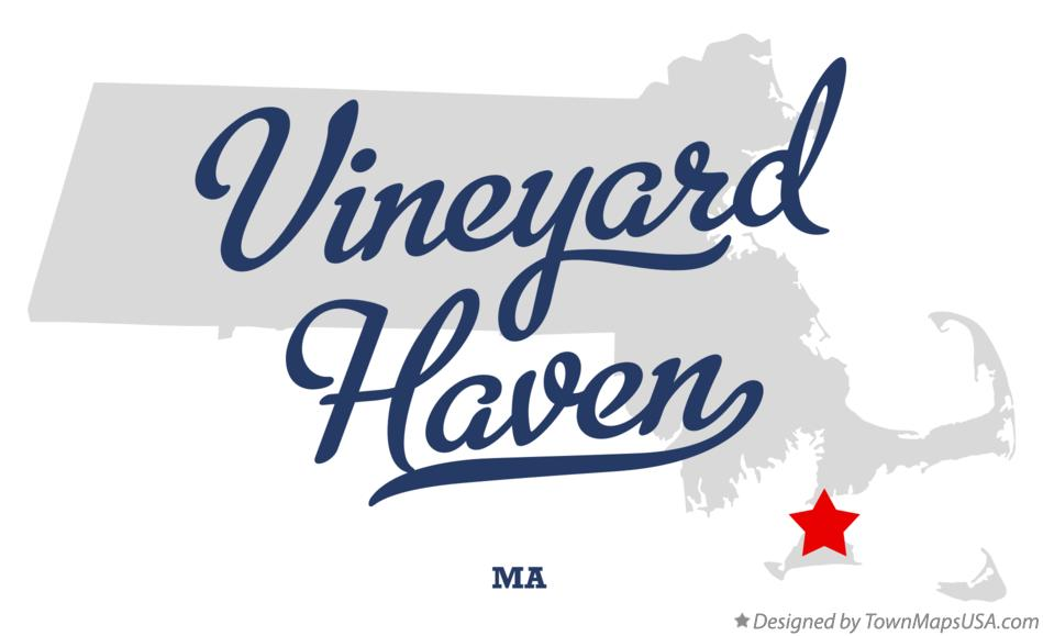 Map of Vineyard Haven Massachusetts MA