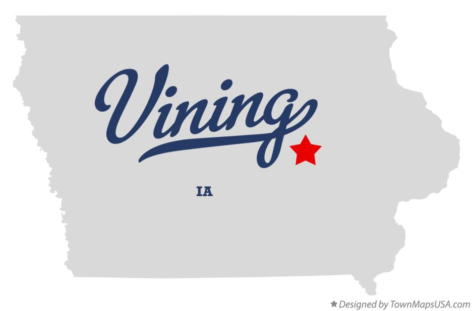 Map of Vining Iowa IA