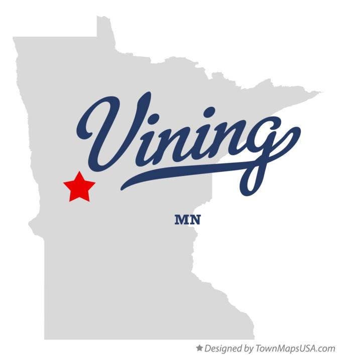 Map of Vining Minnesota MN