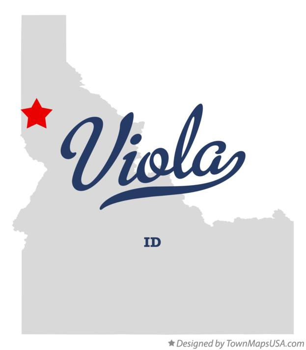 Map of Viola Idaho ID