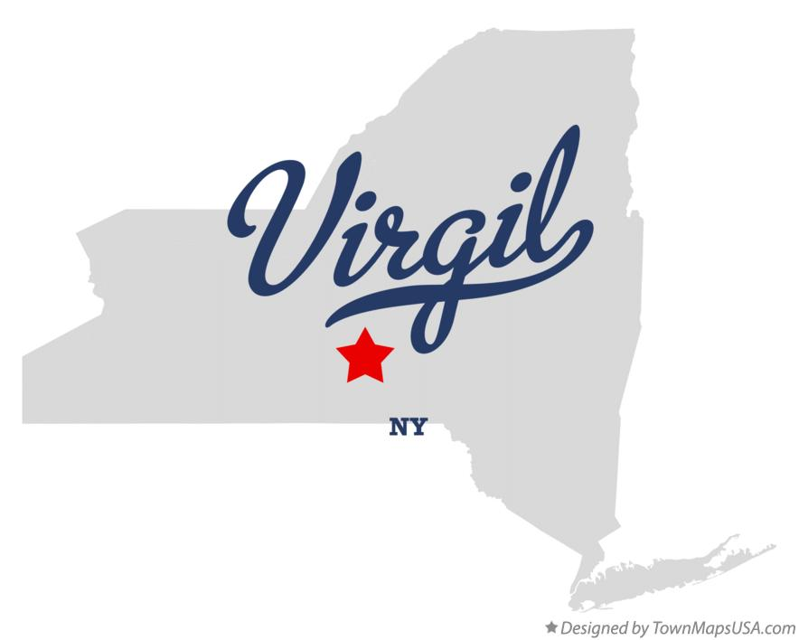 Map of Virgil New York NY