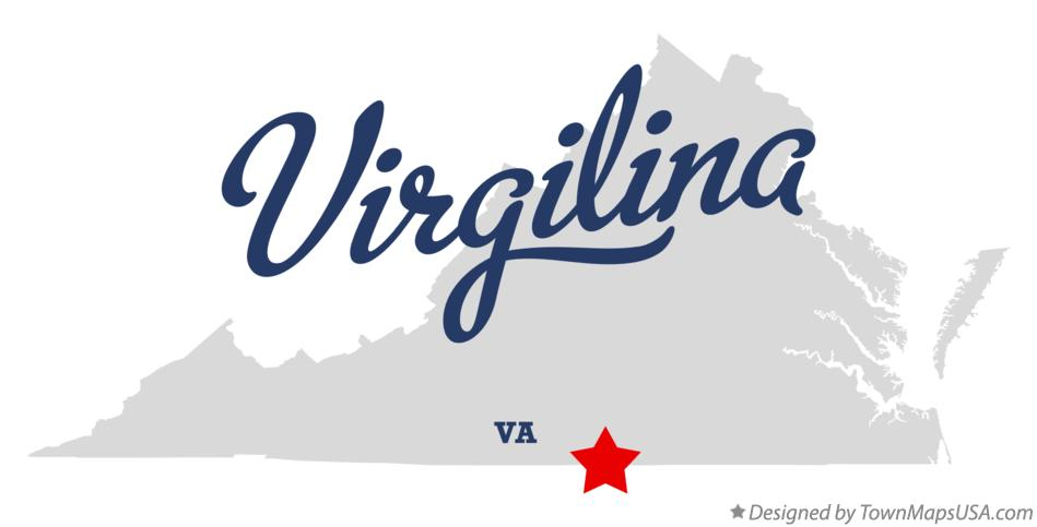 Map of Virgilina Virginia VA