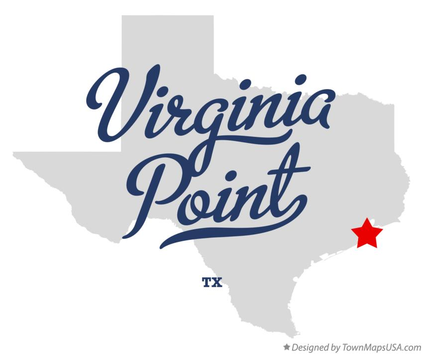 Map of Virginia Point Texas TX