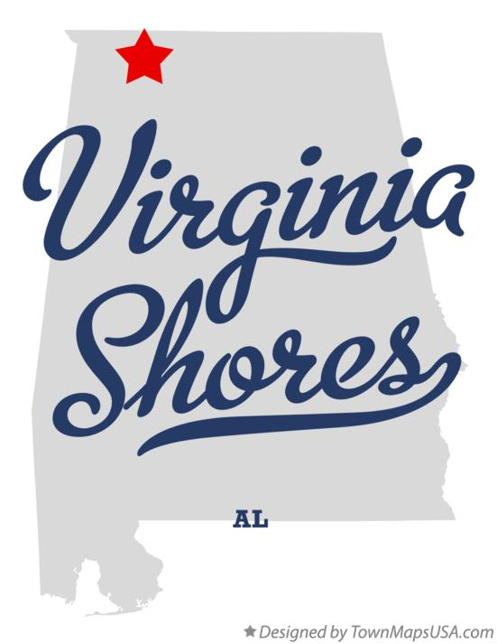 Map of Virginia Shores Alabama AL