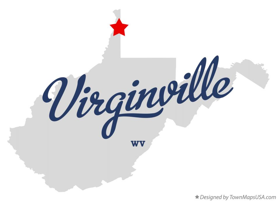 Map of Virginville West Virginia WV