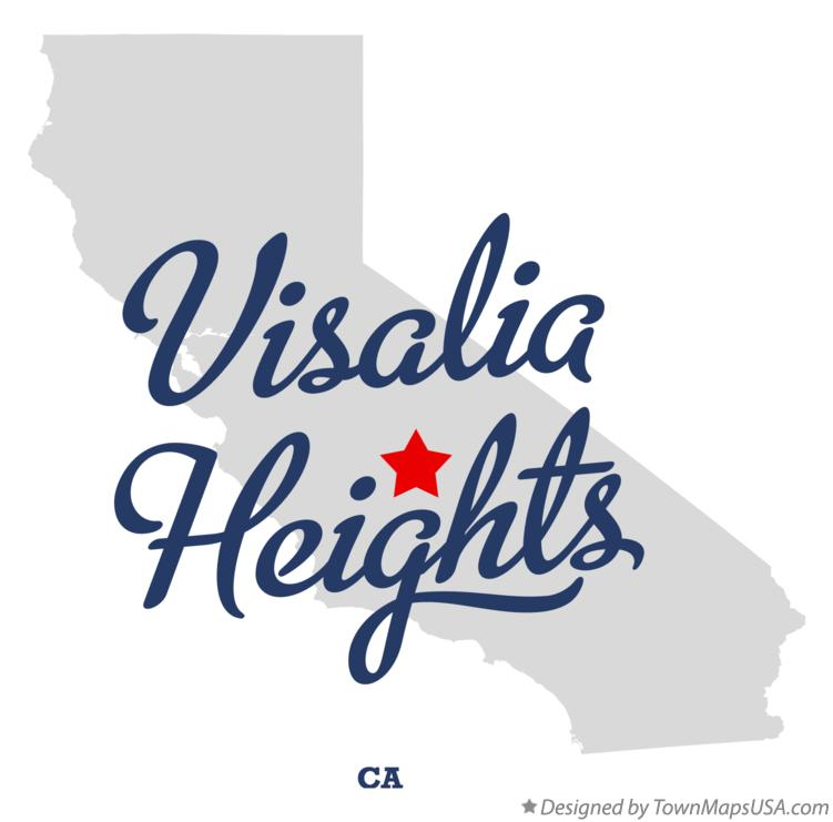 Map of Visalia Heights California CA