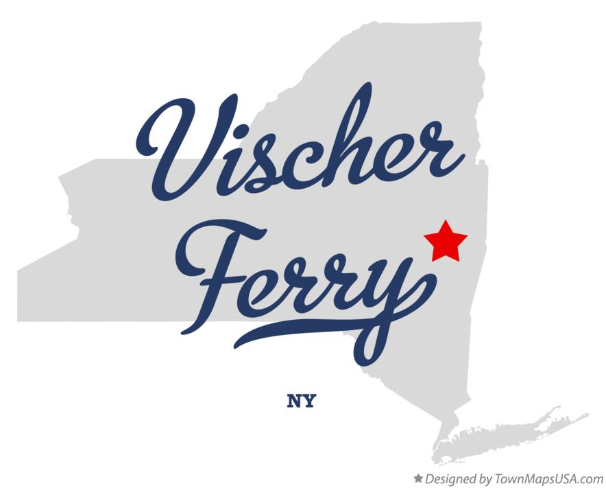 Map of Vischer Ferry New York NY