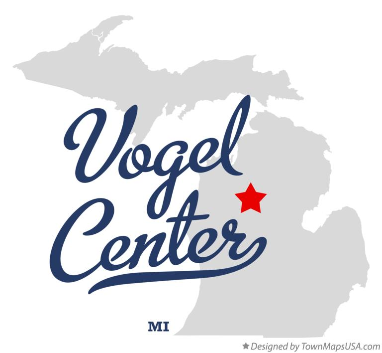 Map of Vogel Center Michigan MI