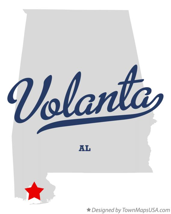 Map of Volanta Alabama AL