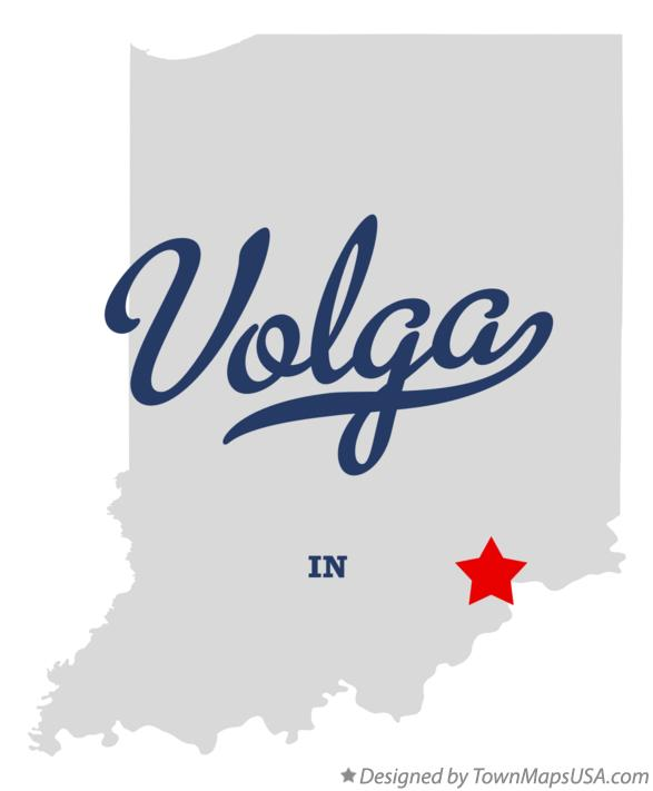 Map of Volga Indiana IN