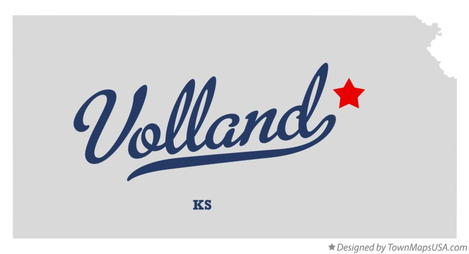 Map of Volland Kansas KS